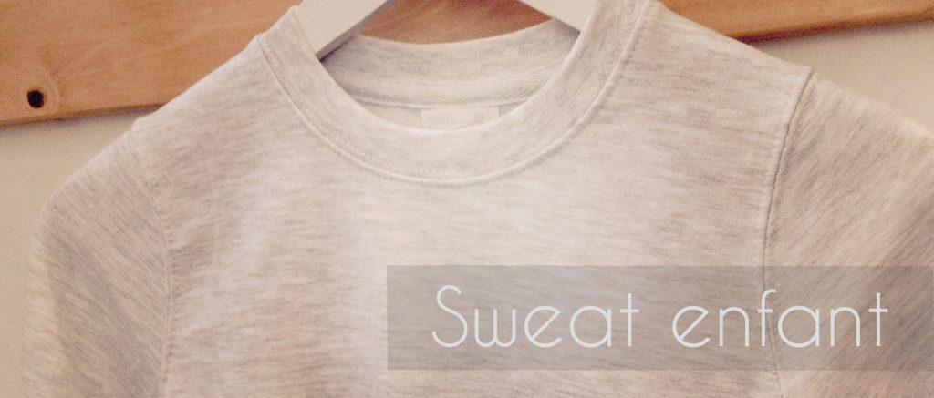 sweat enfant - Atelier du Quai