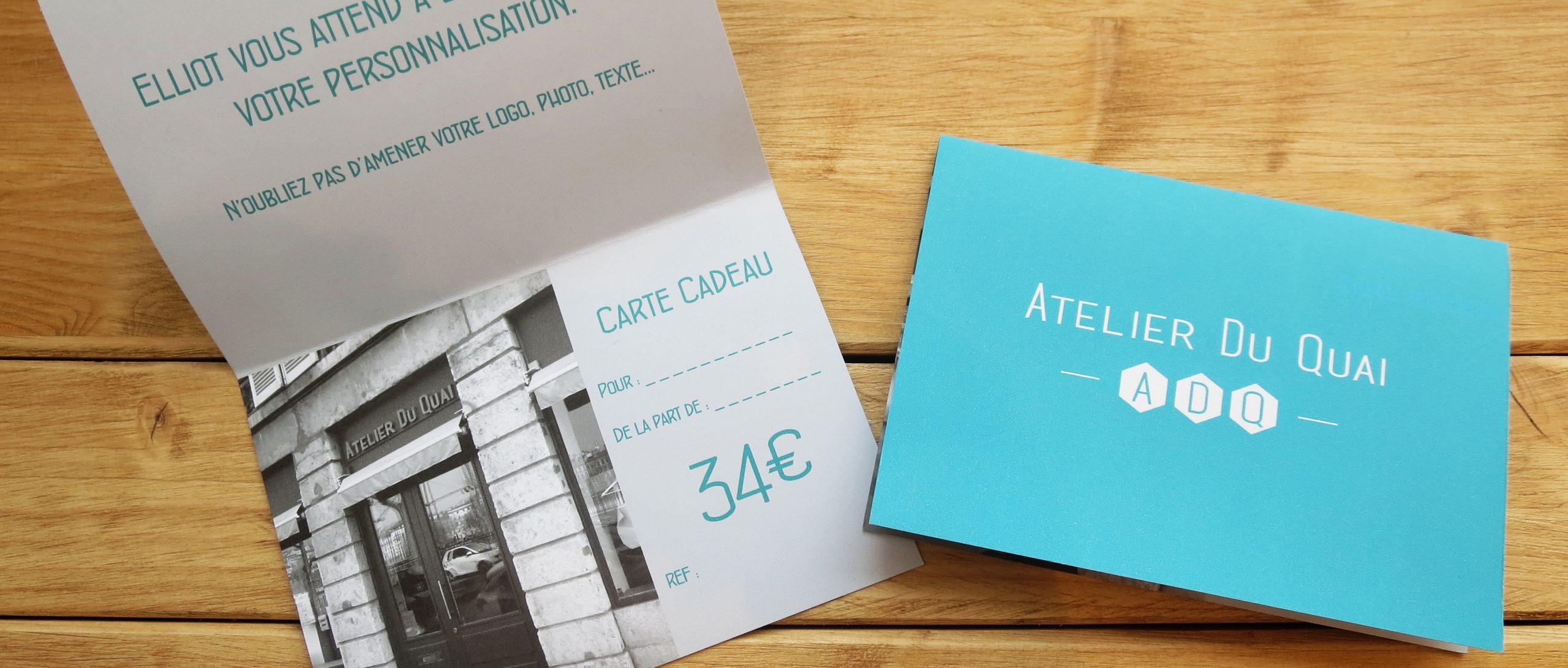 Cartes cadeaux Atelier du Quai - Atelier du Quai