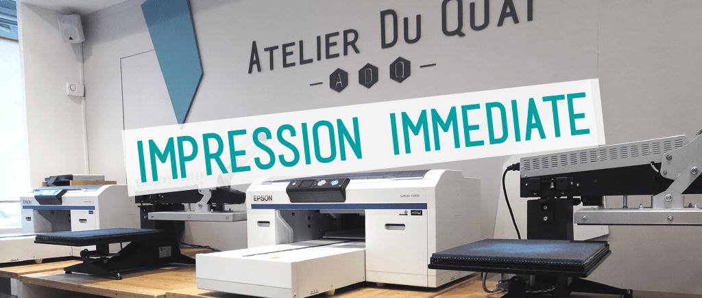 Impression textile immédiate - Atelier du Quai