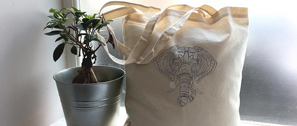 sac en coton personnalisé - image à la une- Atelier du Quai