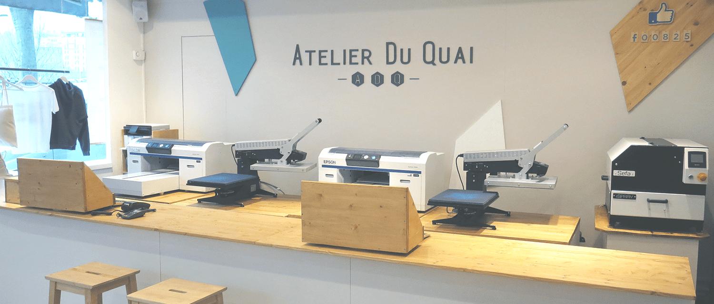 T-shirt personnalisé rapide - Atelier du Quai