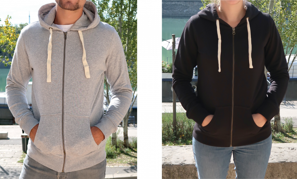 Sweat premium personnalisable - Sweat zippé premium - Atelier du Quai
