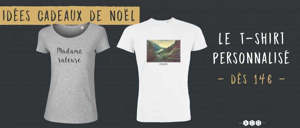 T-shirt personnalisé Noël - Atelier du Quai
