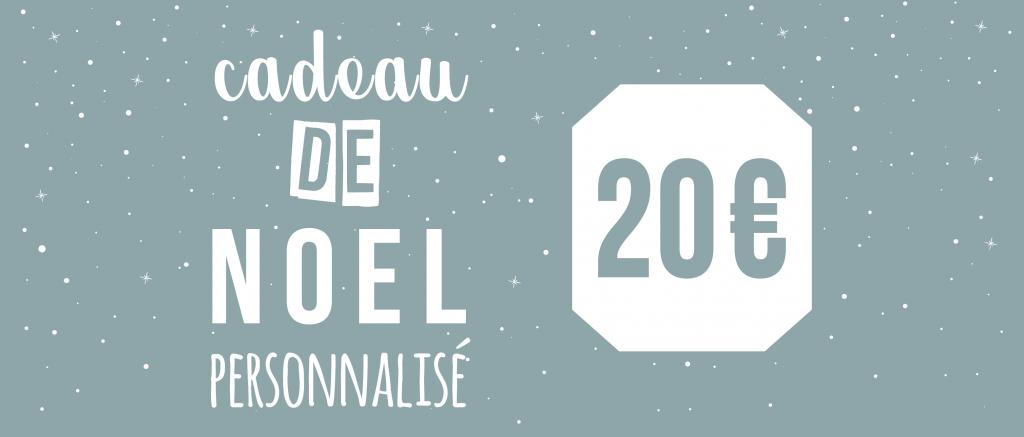 Cadeau de Noël personnalisé pour 20€ - Atelier du Quai