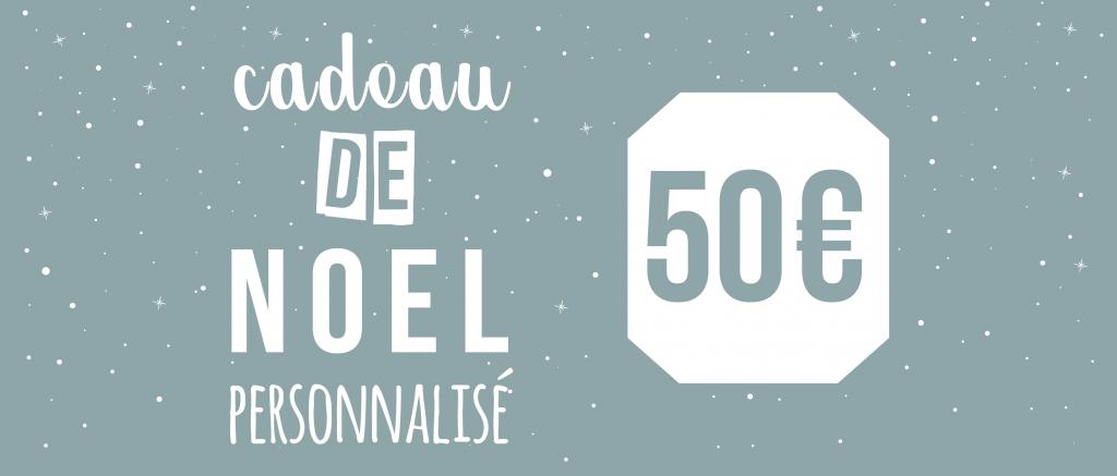 Cadeau de Noël personnalisé pour 50€ - Atelier du Quai