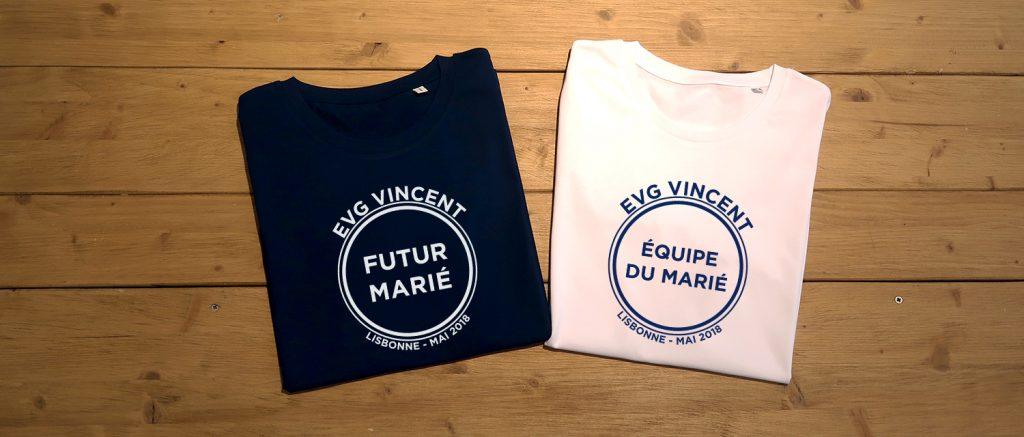 T-shirts personnalisés EVG - Atelier du Quai