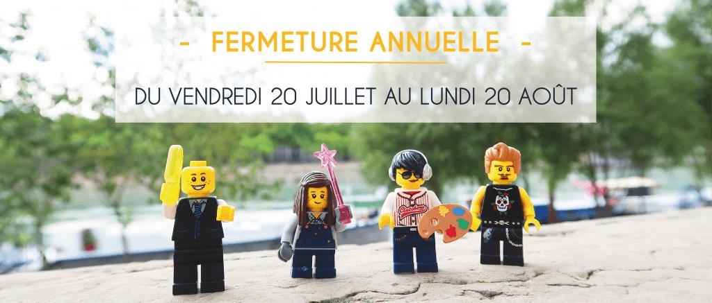 Fermeture Été 2018 - Atelier du Quai
