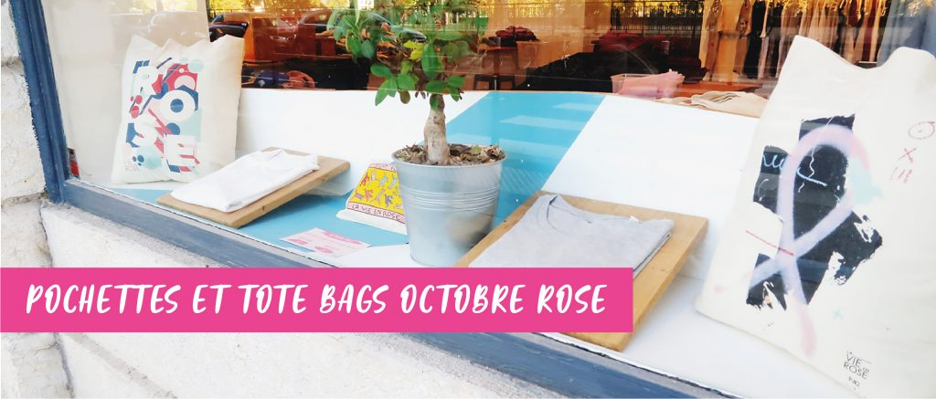 Pochettes et tote bags octobre rose