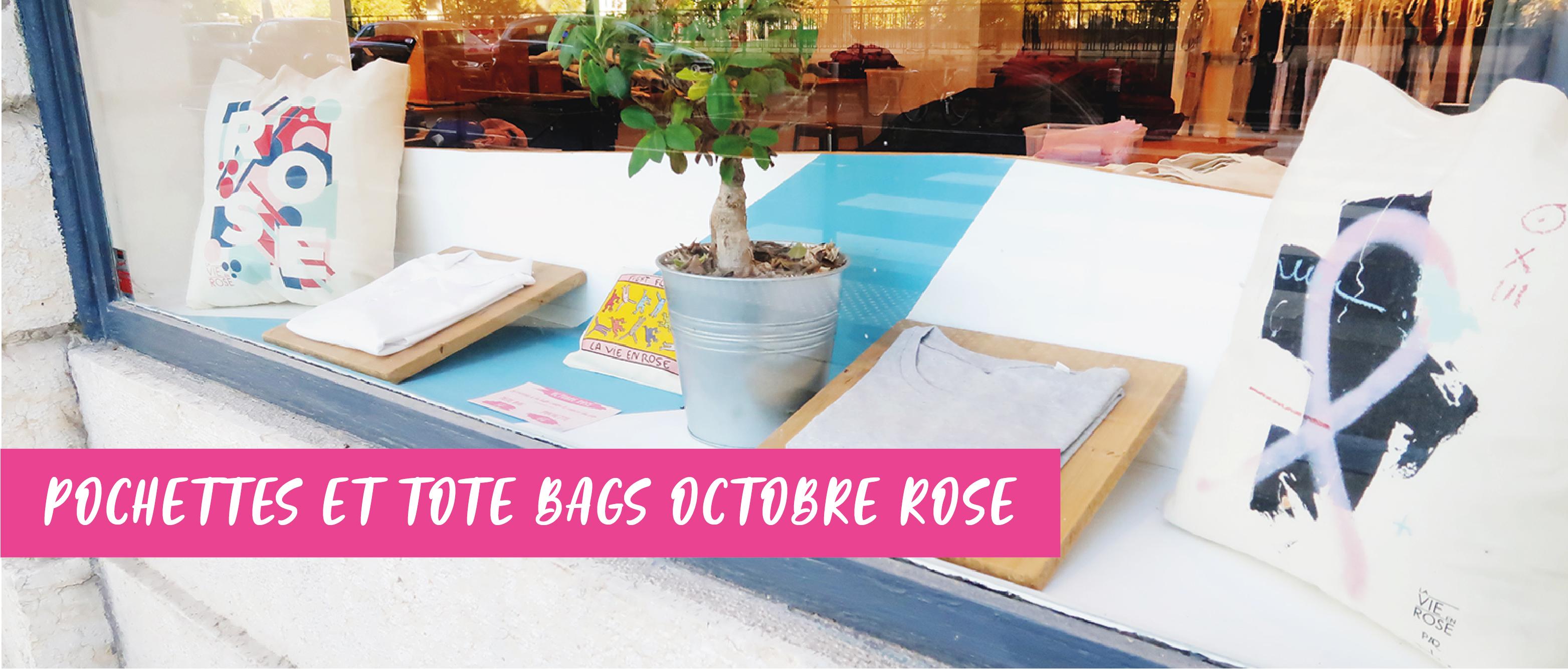 Pochettes et tote bags Octobre Rose - Atelier du Quai