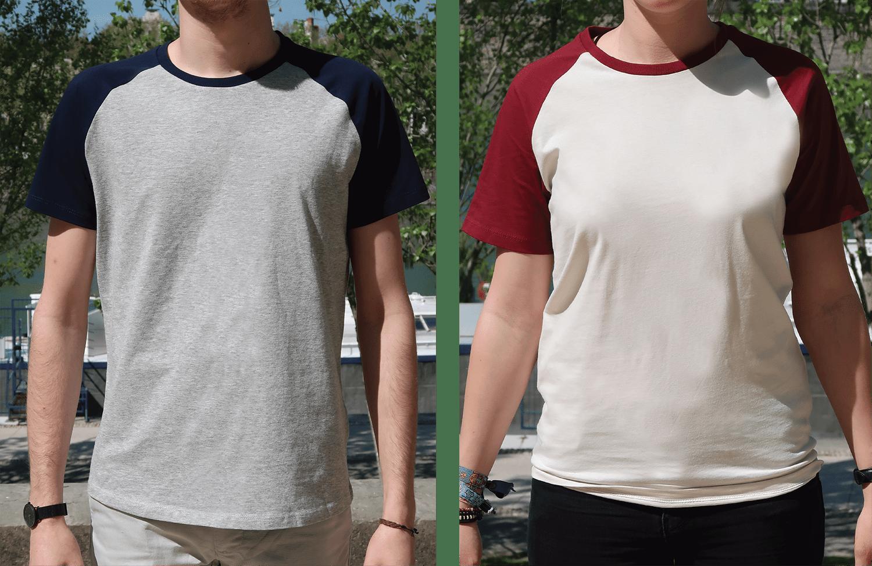 Cadeau Noël personnalisé pour 30€ - T-shirt baseball personnalisé - Atelier du Quai