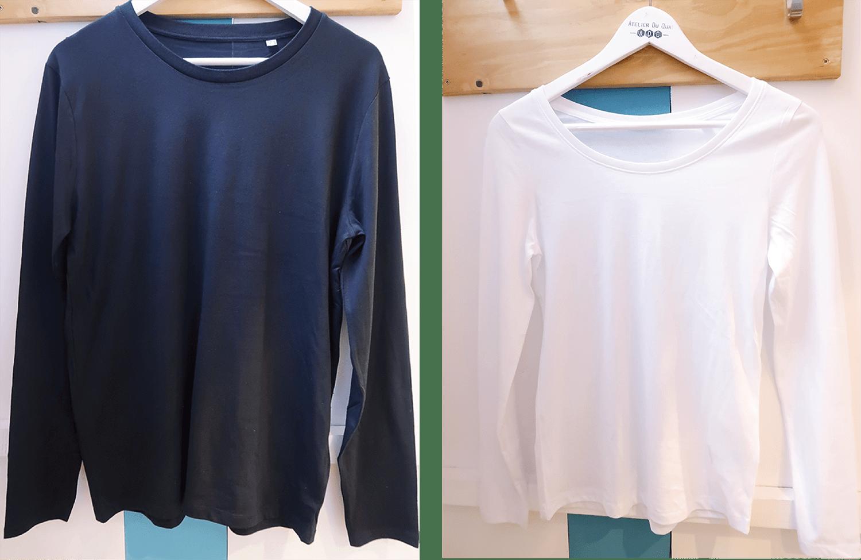 T-shirt Noël personnalisé - T-shirt manches longues personnalisé - Atelier du Quai