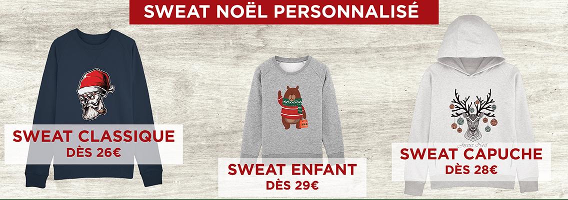 Sweat Noël personnalisé - Atelier du Quai