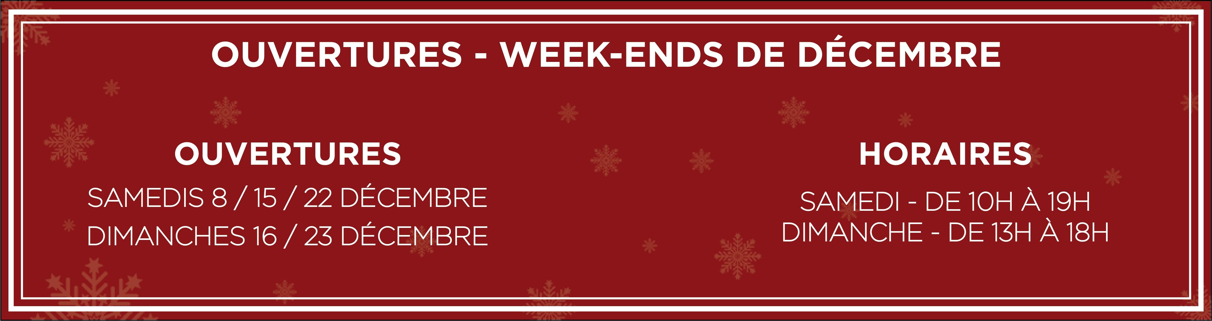 Ouvertures les week-ends de Décembre - Atelier du Quai