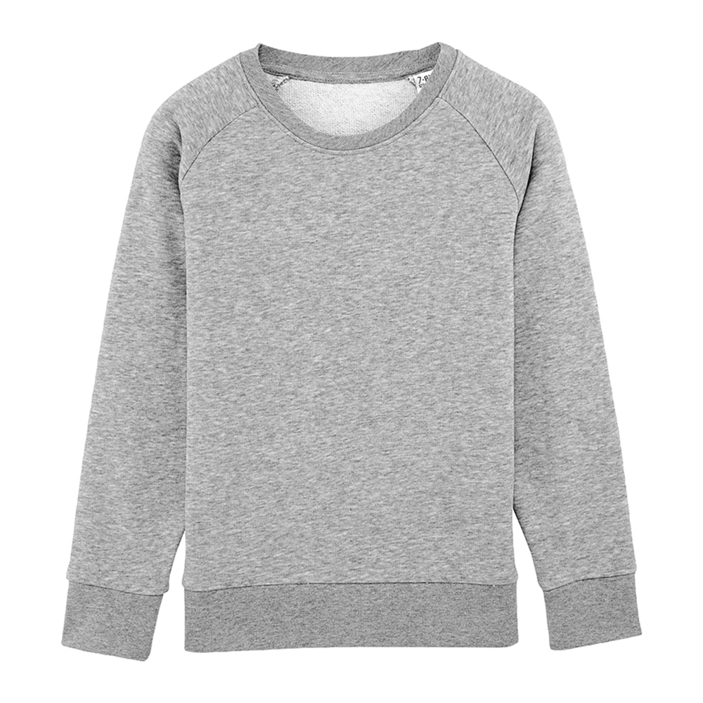 Sweat enfant personnalisable - Sweat col rond gris chiné - Atelier du Quai