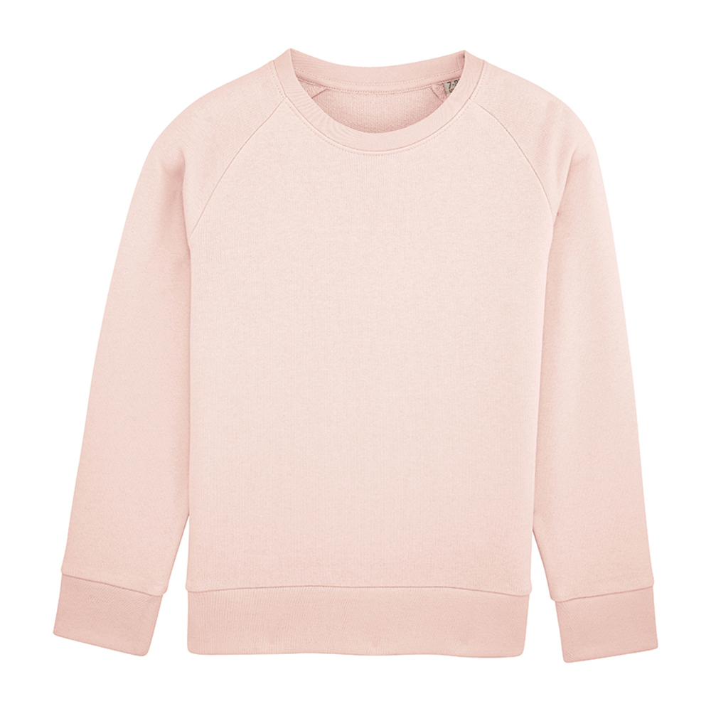 Sweat enfant personnalisable - Sweat col rond rose - Atelier du Quai