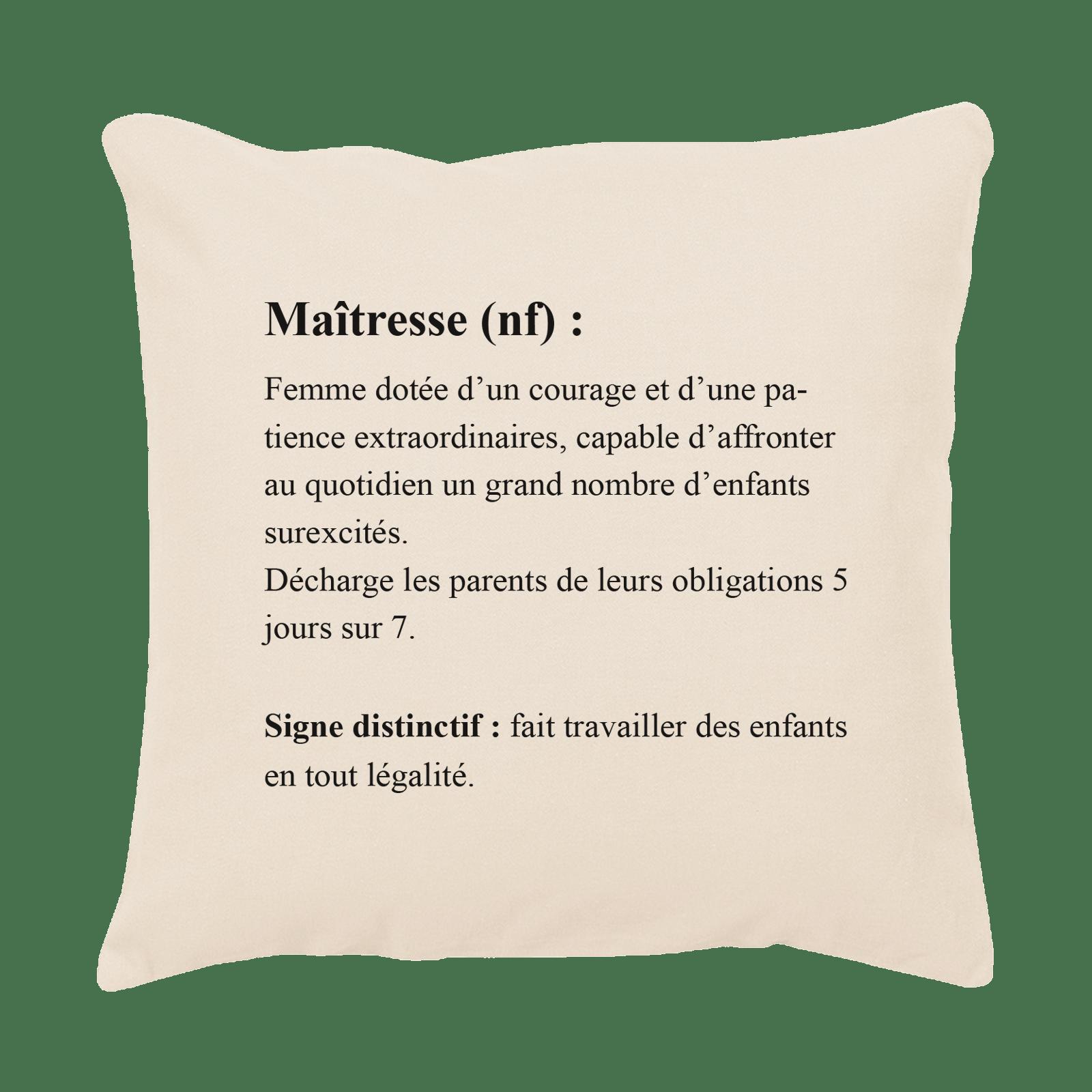 Coussin définition maitresse - Atelier du Quai