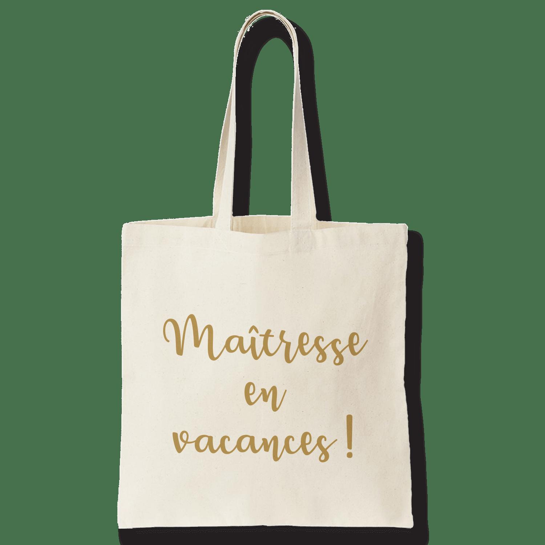 Tote bag maitresse en vacances - Atelier du Quai