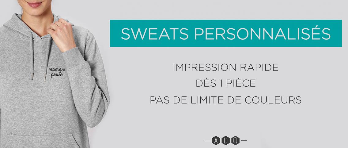 Sweat personnalisé rapide - Atelier du Quai