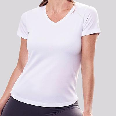 T-shirt Femme Personnalisé - T-shirt de sport col V - Atelier du Quai