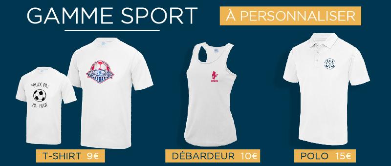 Vêtements de sport personnalisés - Atelier du Quai
