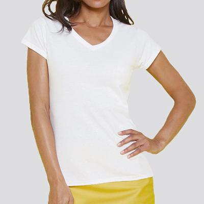 T-shirt personnalisé Femme - T-shirt classique col V - Atelier du Quai