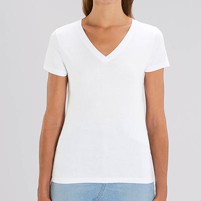 T-shirt personnalisé Femme - T-shirt premium col V - Atelier du Quai